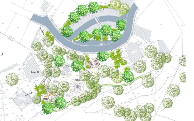 Plan de masse du Jardin de Chembenyoumba