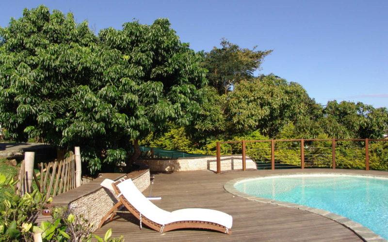 Aménagement jardin particulier vue piscine